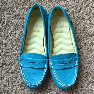 Teal Loafers